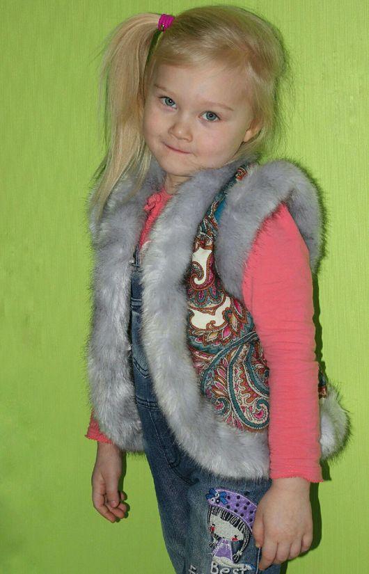 Одежда для девочек, ручной работы. Ярмарка Мастеров - ручная работа. Купить Жилет из Павловопосадского платка. Handmade. Комбинированный, павловопосадский платок