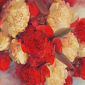 Картины и панно ручной работы. Ярмарка Мастеров - ручная работа Красное и белое. Handmade.
