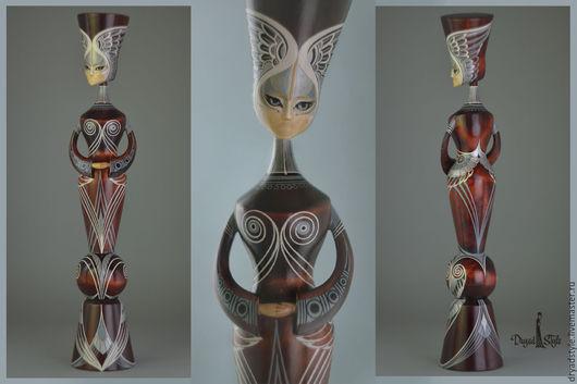 Статуэтки ручной работы. Ярмарка Мастеров - ручная работа. Купить АЕРА- авторская кукла из дерева. Handmade. Коричневый, арт-объект