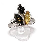 Украшения handmade. Livemaster - original item Silver ring with Baltic amber