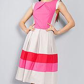 """Одежда ручной работы. Ярмарка Мастеров - ручная работа Скидка 20 % !Платье """"Алиса"""" розово-серый 99905. Handmade."""