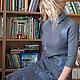 """Платья ручной работы. Ярмарка Мастеров - ручная работа. Купить Валяное платье """"Gray melange"""".. Handmade. Серый, нунофелтинг, dress"""