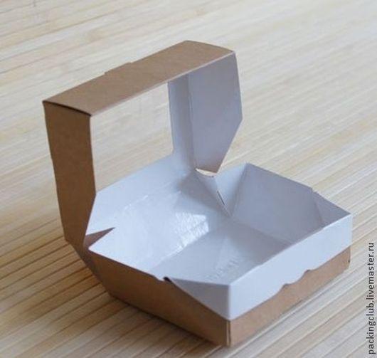 Упаковка ручной работы. Ярмарка Мастеров - ручная работа. Купить Коробка  контейнерЭКО 80х100х36мм. Handmade. Серый, упаковка для подарка