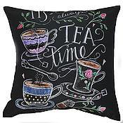Для дома и интерьера ручной работы. Ярмарка Мастеров - ручная работа Декоративная подушка чайная. Handmade.