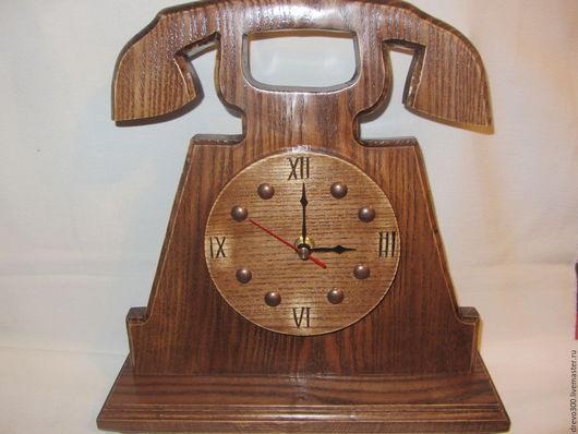 """Часы для дома ручной работы. Ярмарка Мастеров - ручная работа. Купить Часы """"Ретро телефон"""". Handmade. Коричневый, телефон, ретро"""