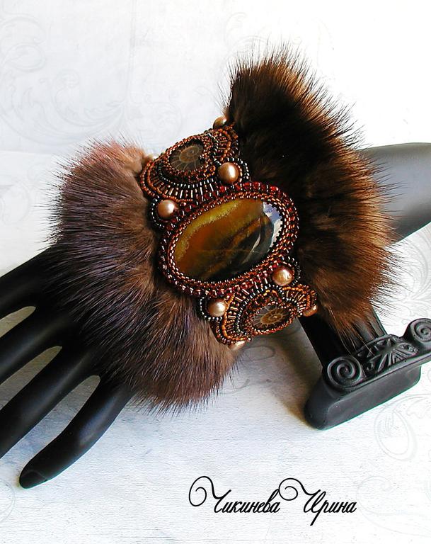 Bracelets Handmade Livemaster Bracelet With Fur Scandinavia