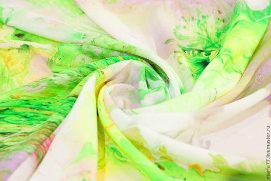 Шитье ручной работы. Ярмарка Мастеров - ручная работа. Купить Шелковый батист. Италия.. Handmade. Салатовый, шелковые цветы, батист