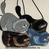 Сумки и аксессуары ручной работы. Ярмарка Мастеров - ручная работа Маленькая черная кошка и К. Handmade.
