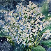 Картины и панно handmade. Livemaster - original item Heady scent of lilies of the valley. Handmade.