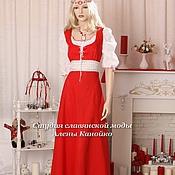 Русский стиль ручной работы. Ярмарка Мастеров - ручная работа Льняное платье Подружка. Handmade.