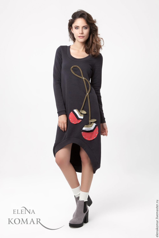 Платье туника с ассиметричным низом