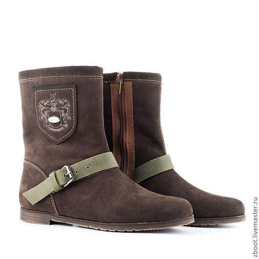Обувь ручной работы. Ярмарка Мастеров - ручная работа. Купить Сапоги зимние AntiUggi. Handmade. Коричневый, обувь из замши