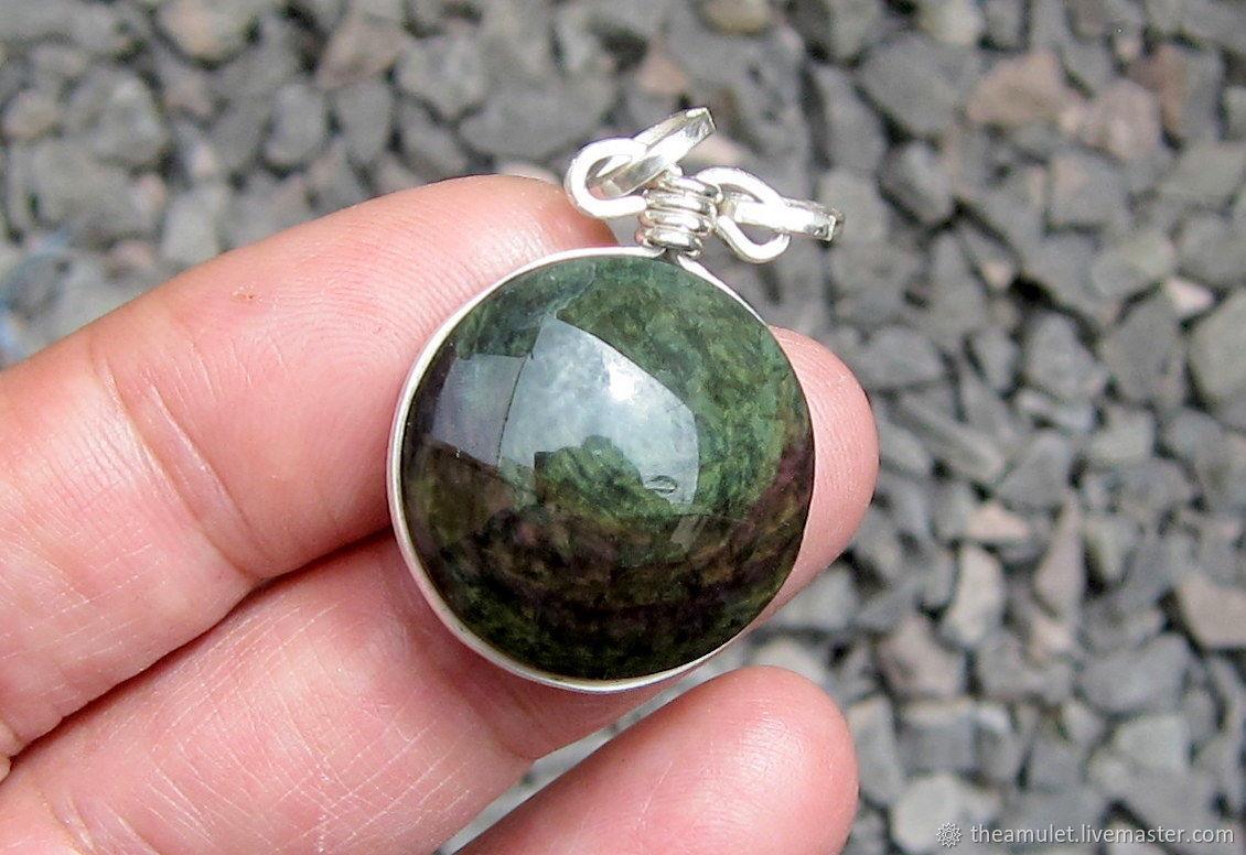obsidian necklace gemstone pendant obsidian pendant, Pendants, Celaya,  Фото №1