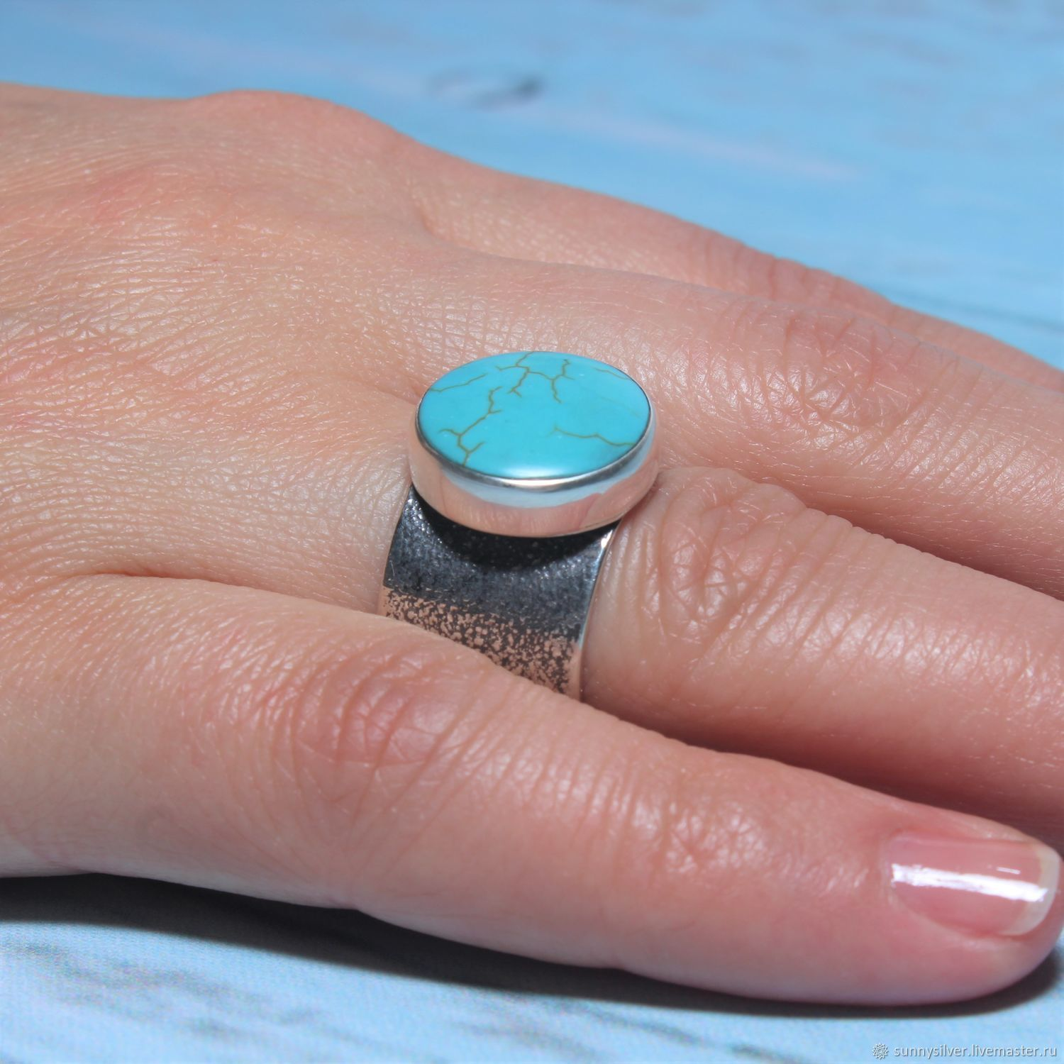 Bequia ring with turquoise in 925 sterling silver, Rings, Yerevan,  Фото №1