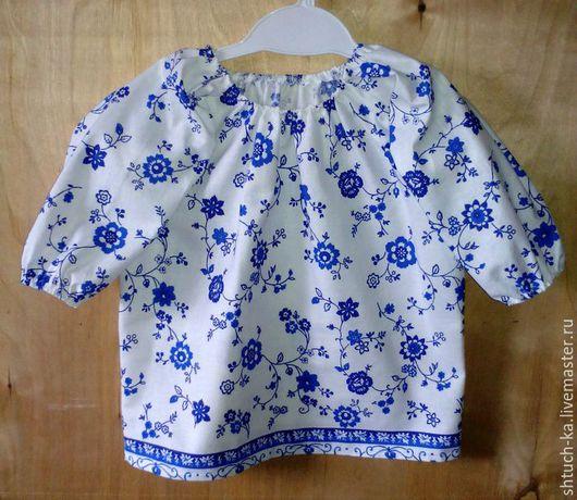 Одежда для девочек, ручной работы. Ярмарка Мастеров - ручная работа. Купить Блузка для девочки. Handmade. Белый, блузка из хлопка