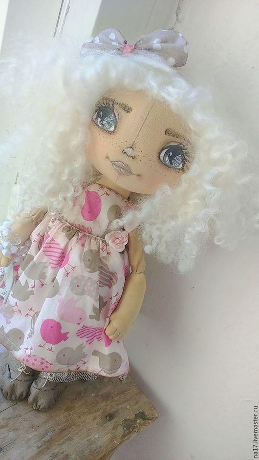 Куклы тыквоголовки ручной работы. Ярмарка Мастеров - ручная работа. Купить Жаклин. Handmade. Кукла ручной работы, розовый, прованс