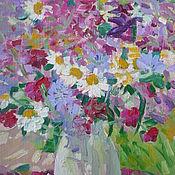 Картины и панно handmade. Livemaster - original item Flowers oil painting. Handmade.