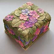 Для дома и интерьера ручной работы. Ярмарка Мастеров - ручная работа Фиалки -  чайная шкатулка. Handmade.
