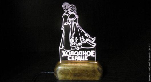 """Освещение ручной работы. Ярмарка Мастеров - ручная работа. Купить Светильник - ночник """"Холодное сердце"""".. Handmade. Белый, ночник в детскую"""