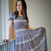 Одежда ручной работы. Ярмарка Мастеров - ручная работа 02.Длинное платье приталенное из 100%  хлопка. Handmade.
