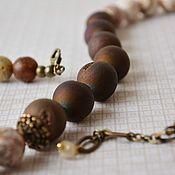 Украшения handmade. Livemaster - original item Agate beads Coffee with cinnamon. Handmade.
