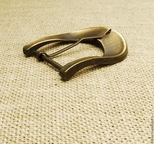 Шитье ручной работы. Ярмарка Мастеров - ручная работа. Купить 35мм Пряжка для ремня из латуни. Италия. Handmade. Оранжевый