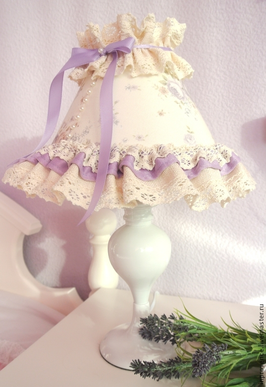 Table Lamp In Lilac Lace Baby Shabby Chic Style. Childrenu0027s Room Decor. Lamp  For