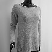 Одежда ручной работы. Ярмарка Мастеров - ручная работа Джемпер из мохера, светло-серый. Handmade.