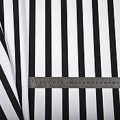 Материалы для творчества handmade. Livemaster - original item Fabric black and white stripe on the front. Handmade.
