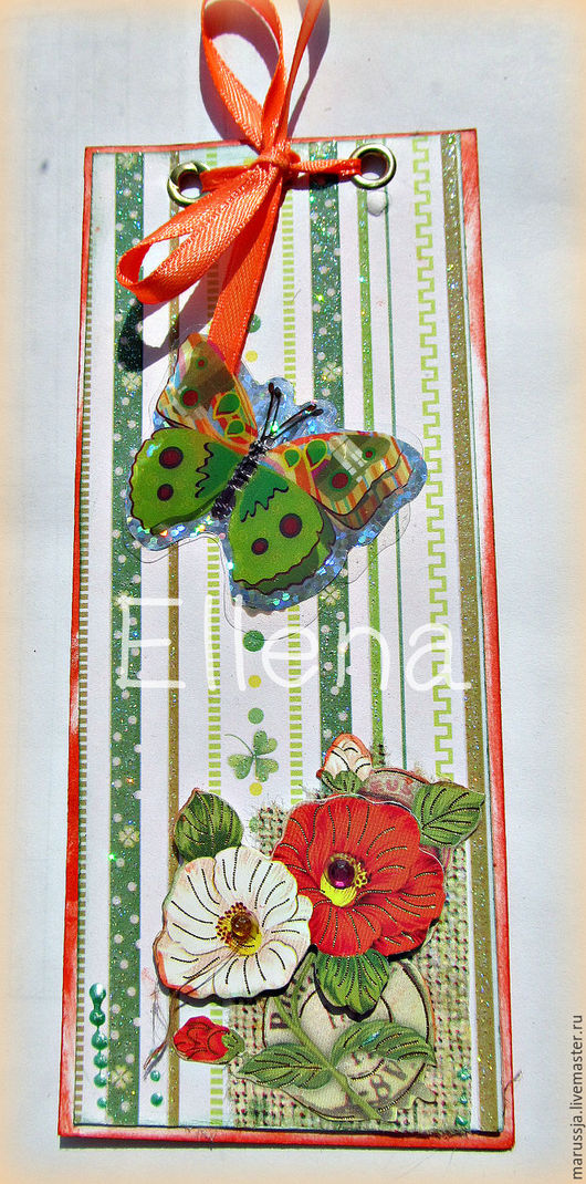 Закладки для книг ручной работы. Ярмарка Мастеров - ручная работа. Купить Закладка для книги Оранжевое лето. Handmade. Закладка для книги