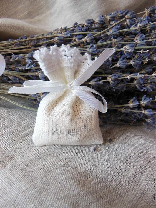 Подарочная упаковка ручной работы. Ярмарка Мастеров - ручная работа. Купить МИни мешочек из льна. Handmade. Белый, мешочек для украшений