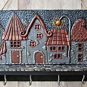 Для дома и интерьера handmade. Livemaster - original item Housekeeper Night City 2.The housekeeper wall. decor polymer clay.. Handmade.