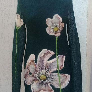 Одежда ручной работы. Ярмарка Мастеров - ручная работа Платье вязаное из кид-мохера. Handmade.