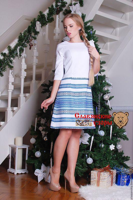 """Платья ручной работы. Ярмарка Мастеров - ручная работа. Купить Платье """"Снегурочка"""". Handmade. Голубой, Платье нарядное, бело-голубое"""