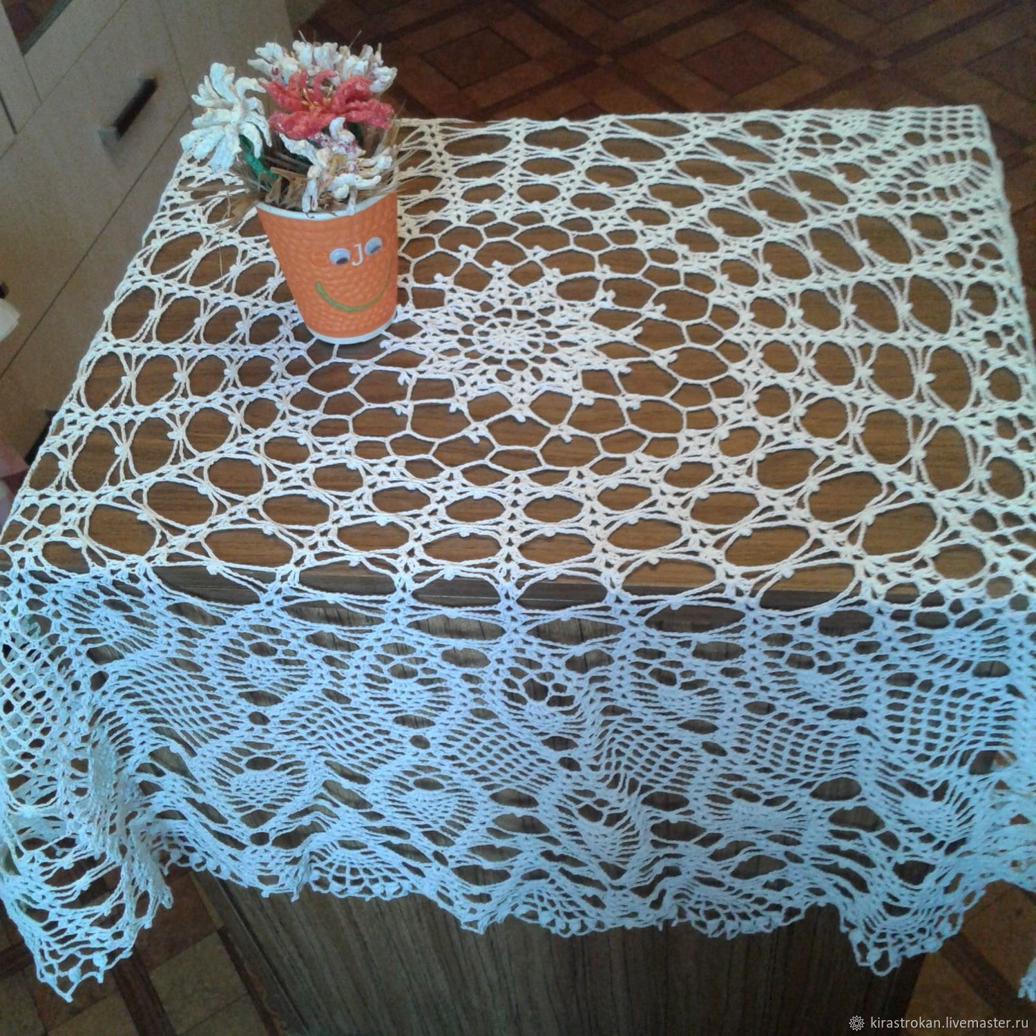 Openwork white tablecloth, Tablecloths, Vyborg,  Фото №1