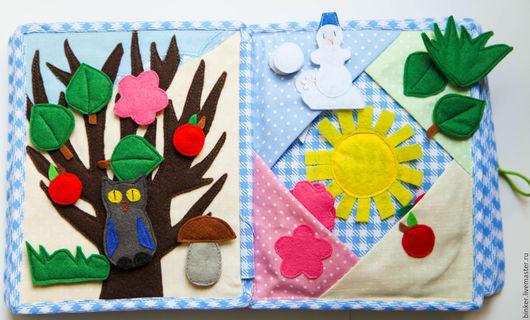 Развивающие игрушки ручной работы. Ярмарка Мастеров - ручная работа. Купить Времена года (развивающая книжка). Handmade. Развивающая игрушка