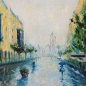 Картины и панно ручной работы. Ярмарка Мастеров - ручная работа Летний дождь. Handmade.