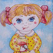 """Картины и панно ручной работы. Ярмарка Мастеров - ручная работа картина """"Девчушка-Домовушка"""". Handmade."""