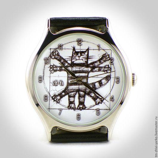 """Часы ручной работы. Ярмарка Мастеров - ручная работа. Купить Часы наручные """"Кот да Винчи"""". Handmade. Часы, наручные часы"""