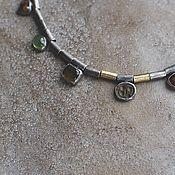 Украшения handmade. Livemaster - original item Necklace with antiquity and stones, silver and brass. Handmade.