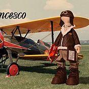 Куклы и игрушки ручной работы. Ярмарка Мастеров - ручная работа Итальянский летчик Francesco. Handmade.