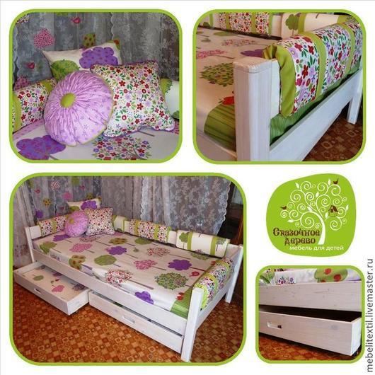 Мебель ручной работы. Ярмарка Мастеров - ручная работа. Купить Кровать детская. Handmade. Белый, кровать из дерева, мебель для детей