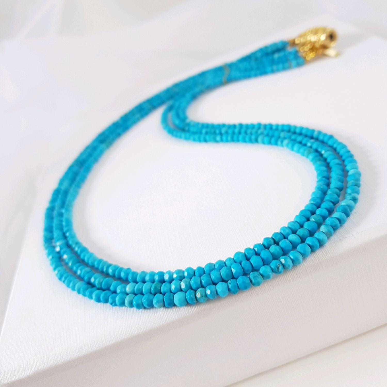 Turquoise necklace ' Plans', Necklace, Krasnodar,  Фото №1