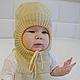 Для новорожденных, ручной работы. Шапка шлем трансформер. Наталья (babbie). Ярмарка Мастеров. Для новорожденного