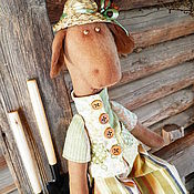 Куклы и игрушки ручной работы. Ярмарка Мастеров - ручная работа дачник Степа,интерьерная игрушка жираф.. Handmade.