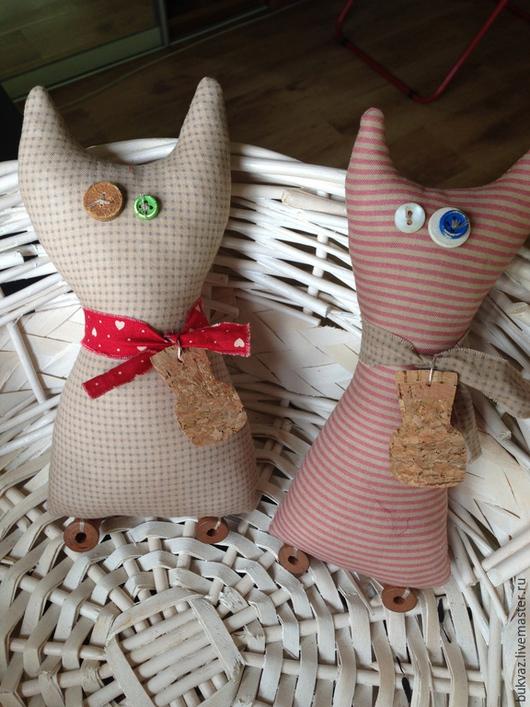 Игрушки животные, ручной работы. Ярмарка Мастеров - ручная работа. Купить Винтажные коты. Handmade. Разноцветный, кожа, хелоуин