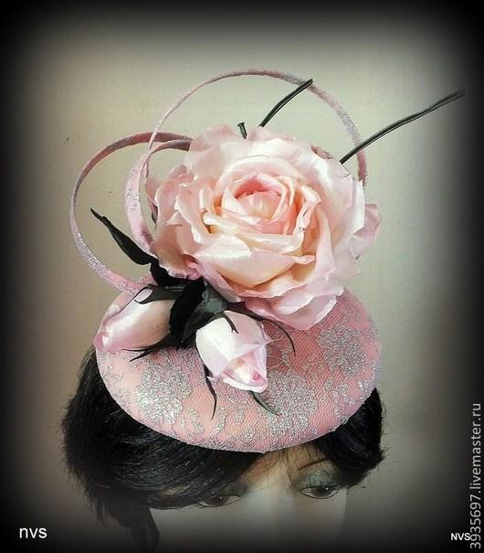 Одежда и аксессуары ручной работы. Ярмарка Мастеров - ручная работа. Купить шляпка Кэт. Handmade. Розовый, шляпка для невесты