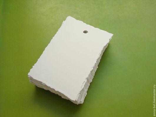 Упаковка ручной работы. Ярмарка Мастеров - ручная работа. Купить бирки-теги с неровным краем 6х9 см (50 шт.). Handmade.