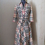 Одежда ручной работы. Ярмарка Мастеров - ручная работа Платье-рубашка в клетку 2. Handmade.