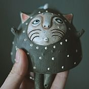 """Мягкие игрушки ручной работы. Ярмарка Мастеров - ручная работа Колокольчик """" кот в горох"""". Handmade."""